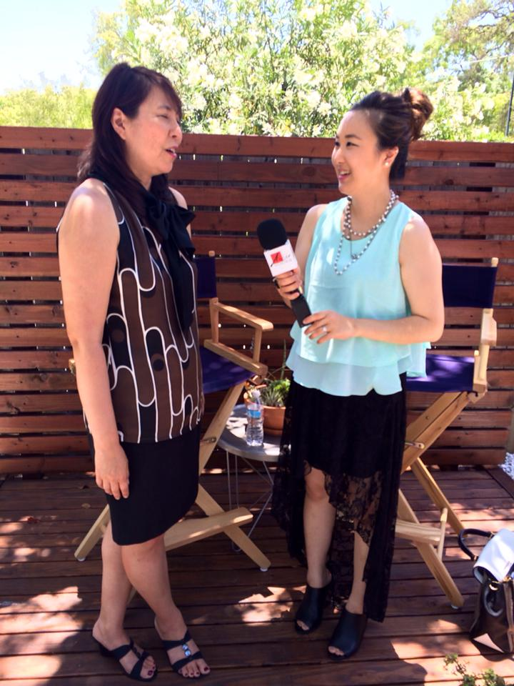 Alice Kim interviewing Iris Yamashita